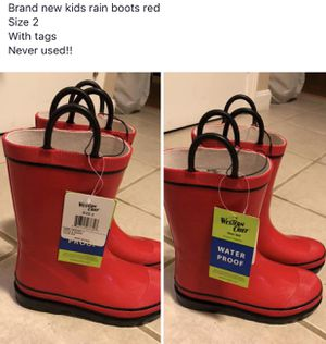 Boys kids rain boots size 2 for Sale in Melrose, MA