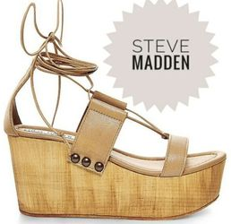 Steve madden wooden strappy beniee platforms Size 7.5 for Sale in Buena Park,  CA