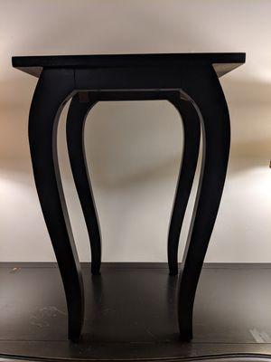 "16""x13""x23"" h black wood table for Sale in Alexandria, VA"