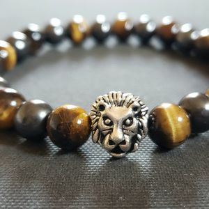 NATURAL Magnetic HEMATITE & Tiger Eye Bracelet (Calm Emotions, Decision & $$ Making, Detox, Known For Blood Circulation, Lower Blood Pressure & Kidney for Sale in Baldwin Park, CA