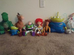 (TOY STORY COLLECTION!!!!!) dolls 9 dolls all light up or talk good condition for Sale in Portland, OR