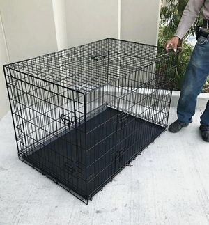 Brand new in box 42x28x30 Inches 2 Doors Pet Cage Dog Kennel Crate Foldable Portable collapsible jaula de perro for Sale in Whittier, CA