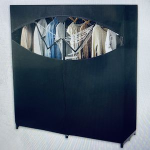 Portable Clothes Wardrobe Storage With Rack for Sale in Costa Mesa, CA