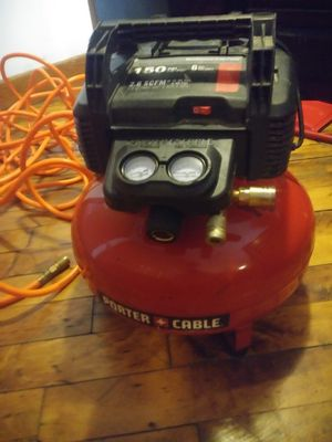 6 gal porter cable air compressor for Sale in Detroit, MI