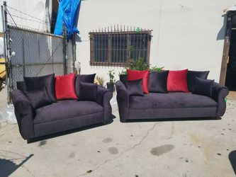 NEW JUAGUAR BLACK FABRIC COUCHES for Sale in La Mesa,  CA