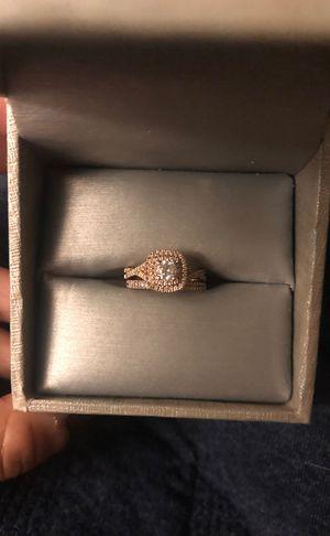 Zales Rose Gold Engagement ring set size 4 for Sale in Santa Cruz, CA