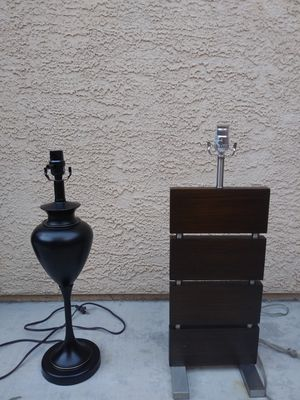 Table lamp (came out of model home) no lamp shade($15 EACH) for Sale in Las Vegas, NV