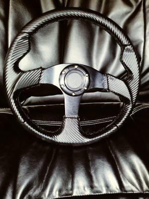 Carbon Wrap JDM Steering Wheel for Sale in San Diego, CA