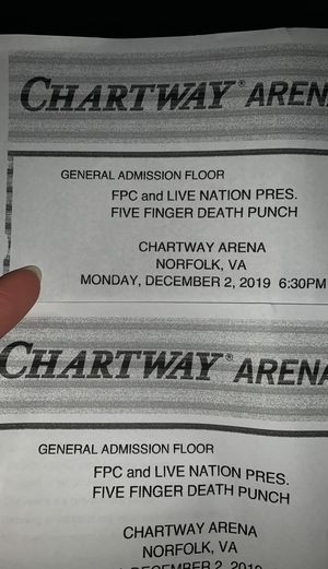 Five finger death punch tickets three days grace for Sale in Chesapeake, VA