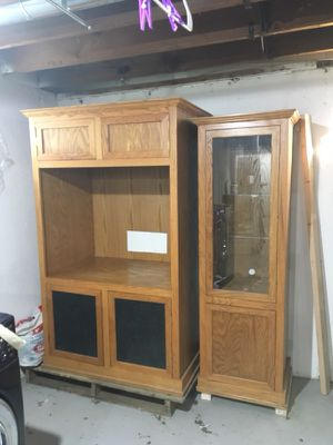 Handmade solid Oak entertainment center for Sale in Overland, MO