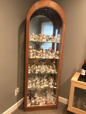Precious Moments figurines and cabinet for Sale in Waldorf, MD
