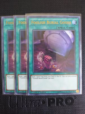 YUGIOH FOOLISH BURIAL GOODS ULTRA RARE HOLO MINT CONDITION!!! for Sale in Pomona, CA