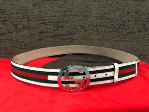Gucci White Webbed Belt *Authentic* for Sale in Queens, NY