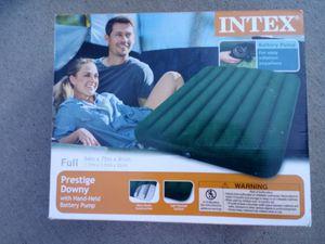 Intex Full Prestige Downy W/Handheld Battery Pump for Sale in Colorado Springs, CO