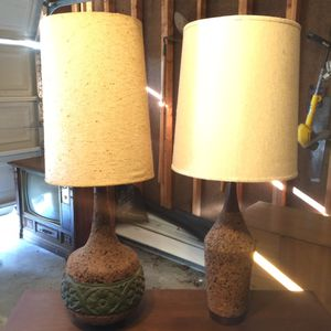 Vintage 1960-1970's Cork Base Lamps for Sale in St. Peters, MO