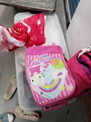 Hello kitty luggage plus sleeping bag for Sale in Virginia Beach, VA