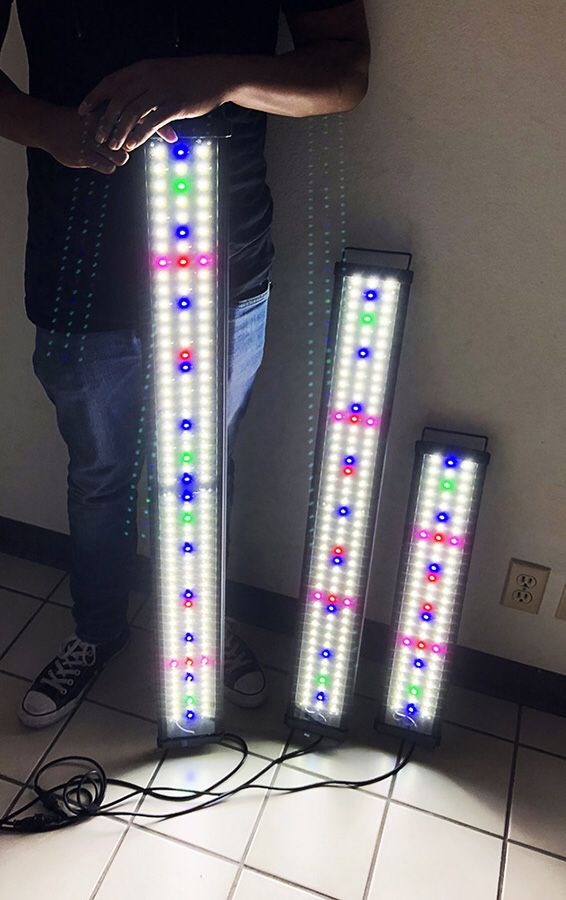 """New in box Aquarium LED Fish Tank Light 3 Sizes: ($35 for 24""""-30""""), ($45 for 36""""-43"""") and ($50 for 45""""-50"""")"""