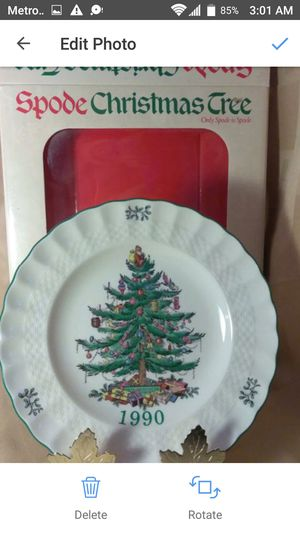 NEW 1990 Spode Christmas Collector Plate 2nd In Limited Edition Green Trim Made In England for Sale in Port Huron, MI