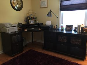 Pottery barn desk and chair (originally purchased for $2600) for Sale in Glassboro, NJ
