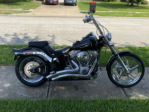 2007 Harley Davidson FXST Black for Sale in Cypress, TX