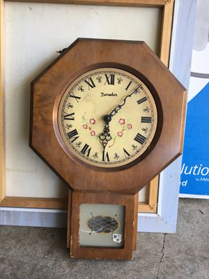 Danner old clock with pendulum for Sale in Portland, OR