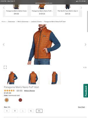 Patagonia Men's Vest XL for Sale in Los Angeles, CA