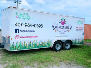 20' Enclosed Trailer (Complete for Landscape) for Sale in Kissimmee, FL