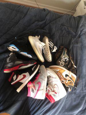 Nike air jordan shoe lot yeezy and y3.. New york v paris /Pink Jordan 1s - 150. Rookie of the years - $200. Phantom 1s - $120 for Sale in Mount Laurel Township, NJ
