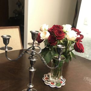 Friedman Silver Co Three Arm Candelabra. Vintage Antique Candle Holder Stamp On The Bottom. for Sale in Winston-Salem, NC