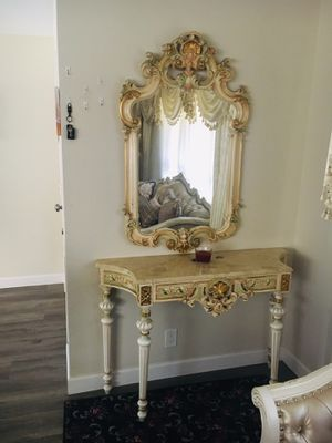 Louise 15 table and mirror for Sale in Chatsworth, CA