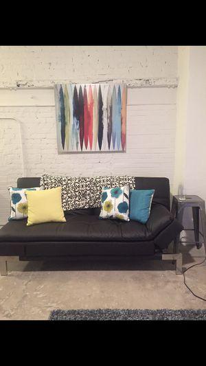 Leather futon for Sale in Atlanta, GA