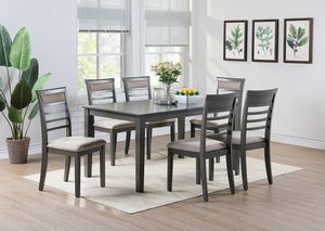 Oak Wood Finish 7 Piece Dining Table Set for Sale in Moreno Valley, CA