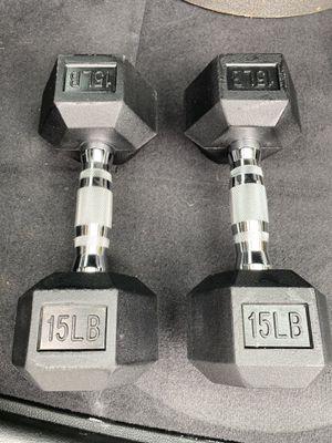 15 lb dumbbells - pair - brand new - 30 lb total for Sale in Newark, CA