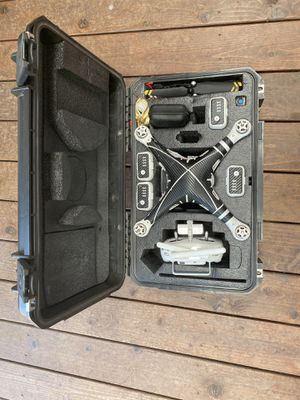 Phantom 3 accessories + crashed drone batteries, 4K camera, propellers, remote controller, hard case for Sale in Santa Maria, CA