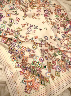 Louis Vuitton Multicolor, Watercolor finish Monogram Silk Scarf for Sale in Houston, TX