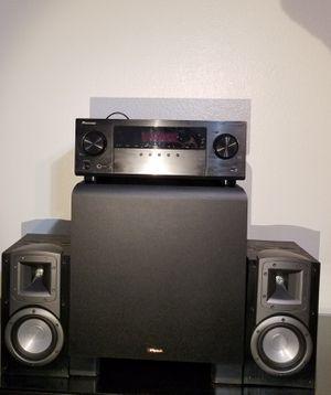 Klipsch Pioneer 5.1 Home theater speaker system + 1 free item for Sale in Laguna Hills, CA