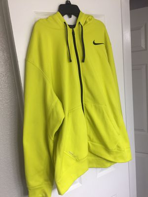 Nike Jacket Hoodie Jordan Sweatshirt XL Extra-Large Therma-fit VOLT Electric Yellow/Dark Grey for Sale in Houston, TX