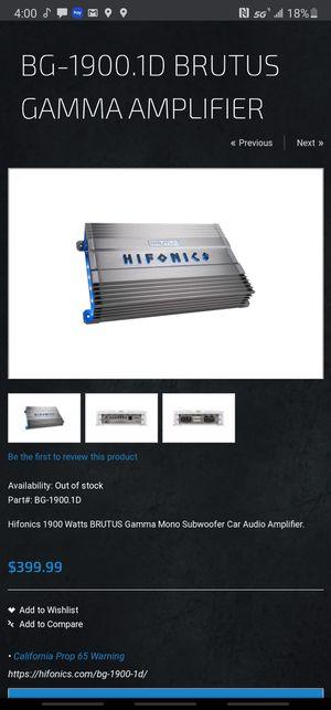 "Kicker L7-12"" & Hifonics Brutus Super D class amp for Sale in Phoenix, AZ"