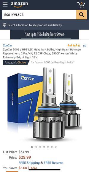 9005 / HB3 LED Headlight Bulbs for Sale in Lancaster, CA