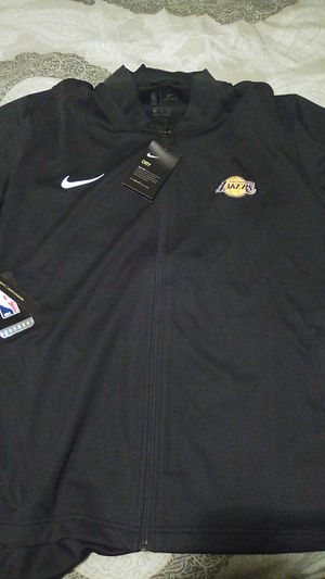 Nike NBA Lakers jacket color gray and all black for Sale in Redondo Beach, CA