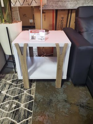 End Table, White and Dark Taupe for Sale in Irvine, CA