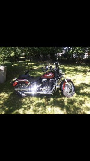 1999 Honda Shadow bike 46000 miles extra break pads n extra battery chargers n more no low balls dropped price down a lot already for Sale in Valley View, OH