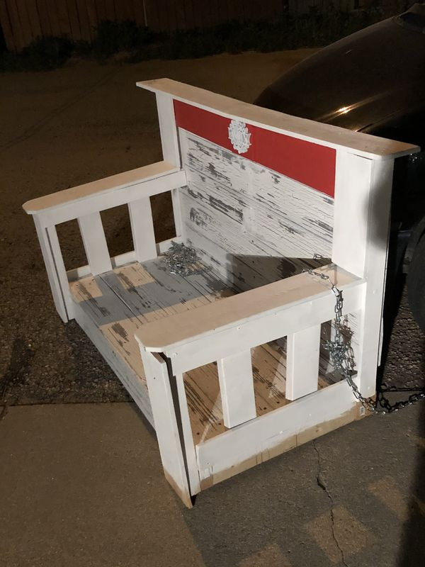 NEW Webber Built Amazing Rustic White Country Porch Swing !! Wow Gorgeous Must Have !!!