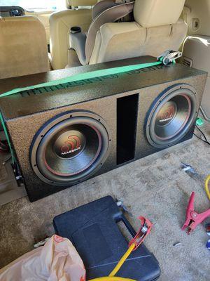 Massive audio 12s with 1300 watt audiopipe amp for Sale in Chandler, TX