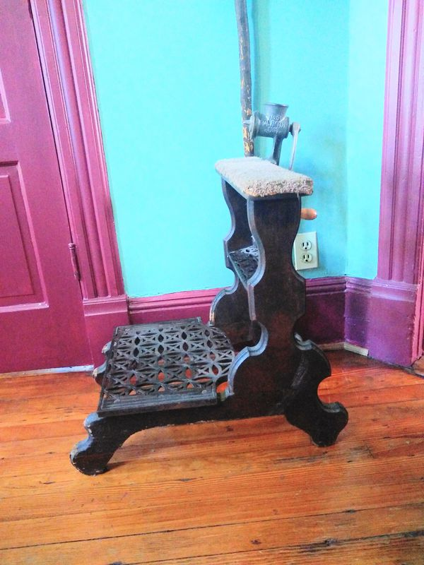 Geo W Archer 1870s Antique footstool for barber chair