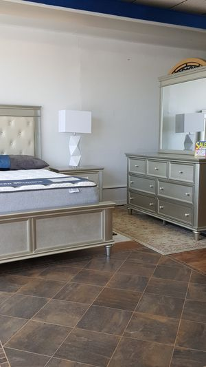 Brand New Queen Headboard, Footboard, Rails, Dresser, Mirror and 1Nightstand **King Sets $1099 for Sale in New Port Richey, FL