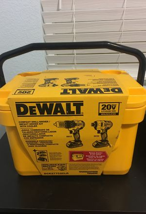 Limited edition DeWalt Ice Chest with 2 power tools for Sale in Avondale, AZ