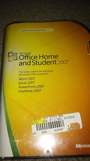 Microsoft Office Home and Student 2007 Software for Sale in Orlando, FL