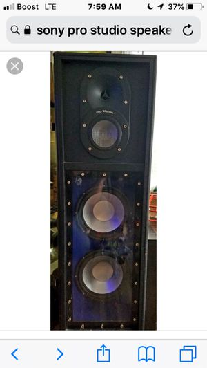 Pro studio speaker with 2 audio in connectors ask for 100 most be sold to today it for Sale in Tampa, FL