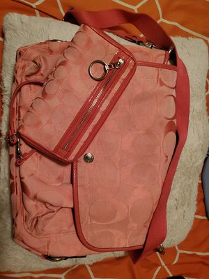 Pink coach bag and wallet for Sale in Santee, CA